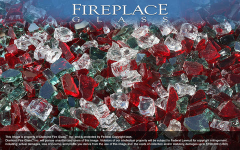 Christmas Jewels Premixed Fireplace Glass