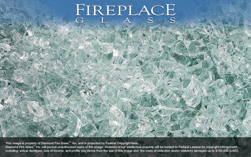 Clear Diamond Crystal Fireplace Glass