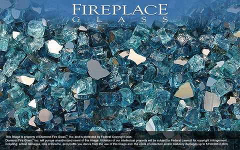 Costa Azul Premixed Fireplace Glass