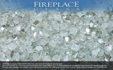 Crystal Cove Premixed Fireplace Glass