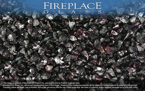 Deep Purple Crystal Fireplace Glass