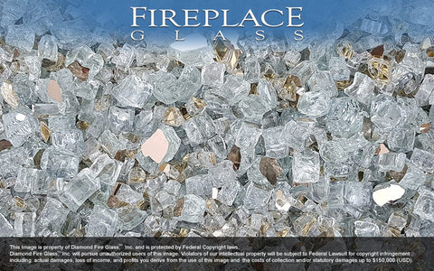 Denali Peak Premixed Fireplace Glass