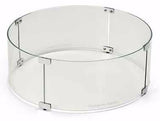 Fire Pit Glass Wind Guards - Round 23 Inch