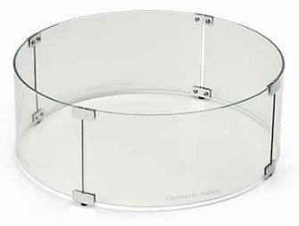 Fire Pit Glass Wind Guards - Round 48 Inch