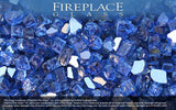 Electric Blue Reflective Nugget Fireplace Glass