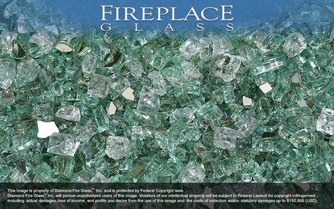 Emerald Bay Premixed Fireplace Glass
