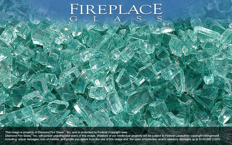 Emerald Green Crystal Fireplace Glass