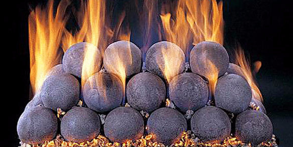 "Fire Balls - Ceramic 4"" Diameter - 50 Piece Set"