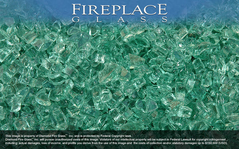 Forest Green 2000 Crystal Fireplace Glass