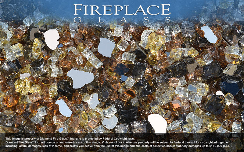 Gold Mine Premixed Fireplace Glass
