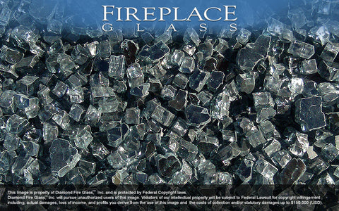 Graphite Gray Fireplace Glass - Temporarily Backordered