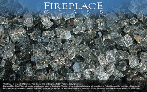 Gray Nugget Fireplace Glass - Temporarily Backordered