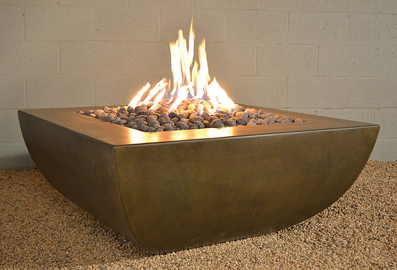 Legacy Square Fire Pit Table by Diamond Fire Glass