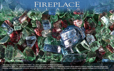 Northern Lights Premixed Fireplace Glass