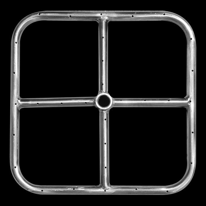 Stainless Steel Square Fire Pit Ring - 12 Inch