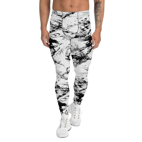 Abstract Snow CAMO Men's Leggings - XS