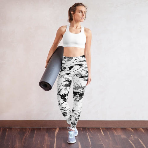 Abstract Snow CAMO Yoga Leggings - XS