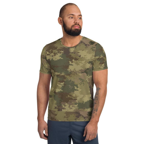 Abstract Temperate CAMO Men's Athletic T-shirt - XS