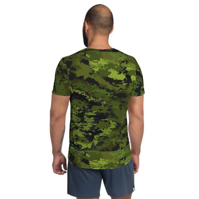Abstract Tropical CAMO Men's Athletic T-shirt