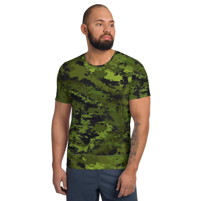 Abstract Tropical CAMO Men's Athletic T-shirt - XS