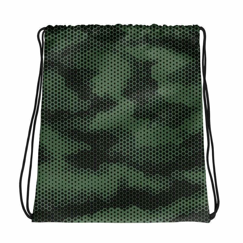 Green Illusion CAMO Drawstring bag