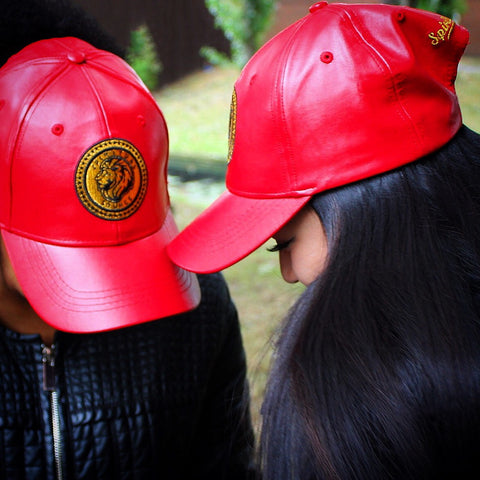 Spiritualsource Baseball Cap - Red Leather – Spiritualsource   Co. 67a6ab203ab