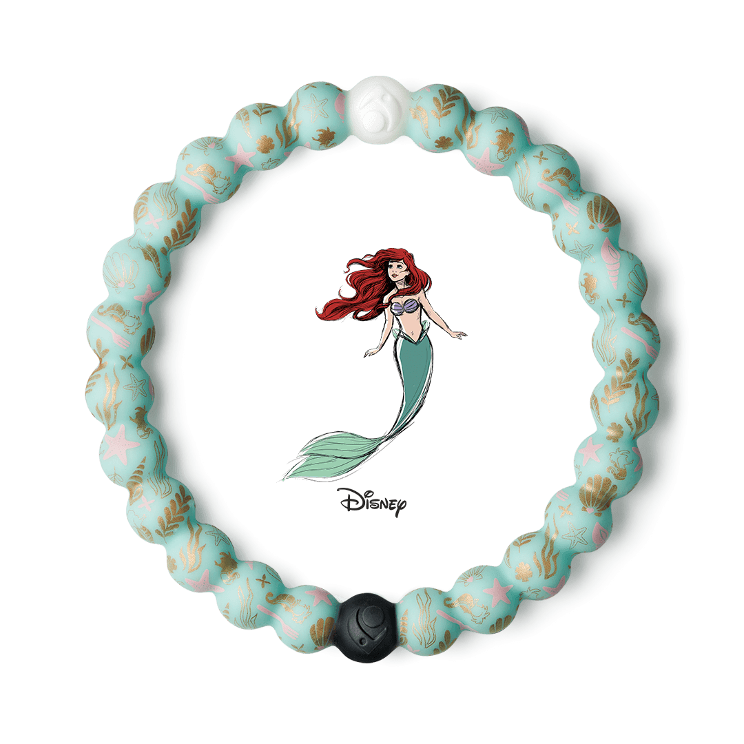 Silicone beaded bracelet with seaweed and starfish on it.