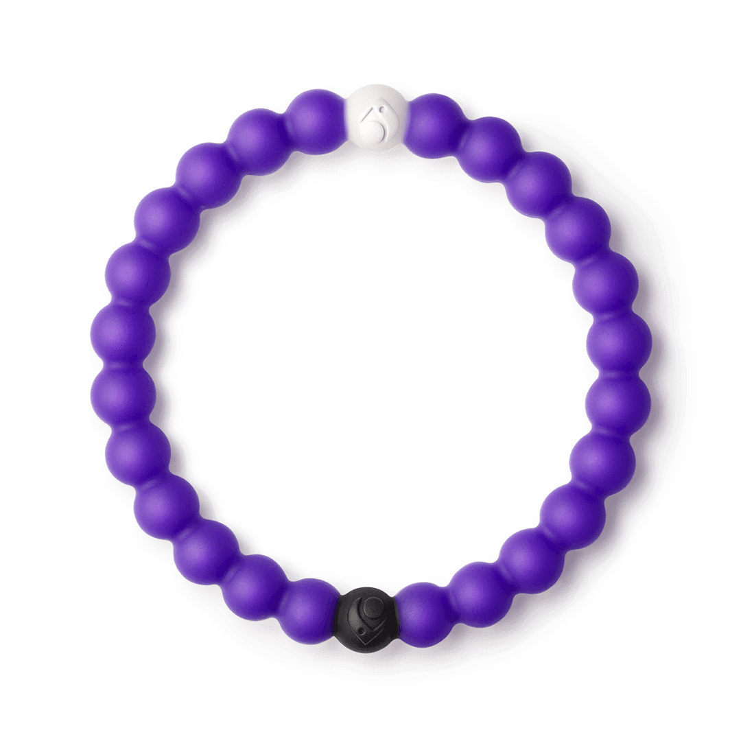 Dark purple silicone beaded bracelet.