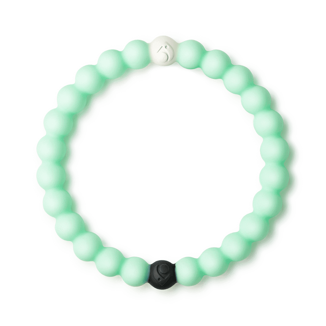 Mint silicone beaded bracelet.