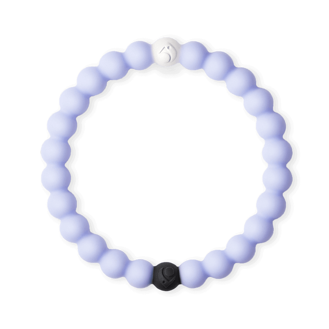 Light purple silicone beaded bracelet.