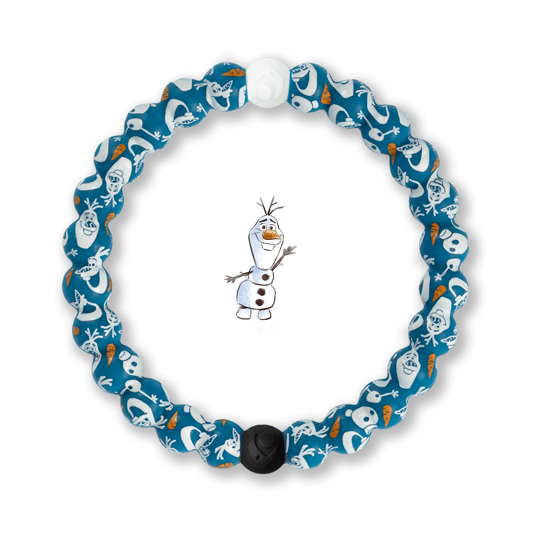 Silicone beaded bracelet with Olaf pattern