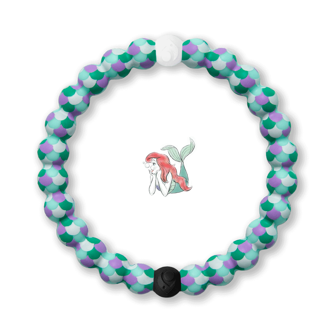 Silicone beaded bracelet with mermaid scales pattern
