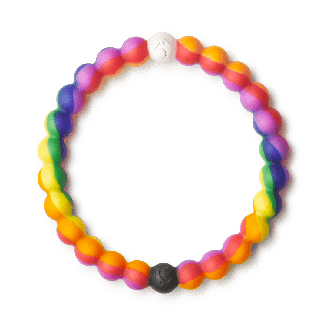 Rainbow silicone beaded bracelet