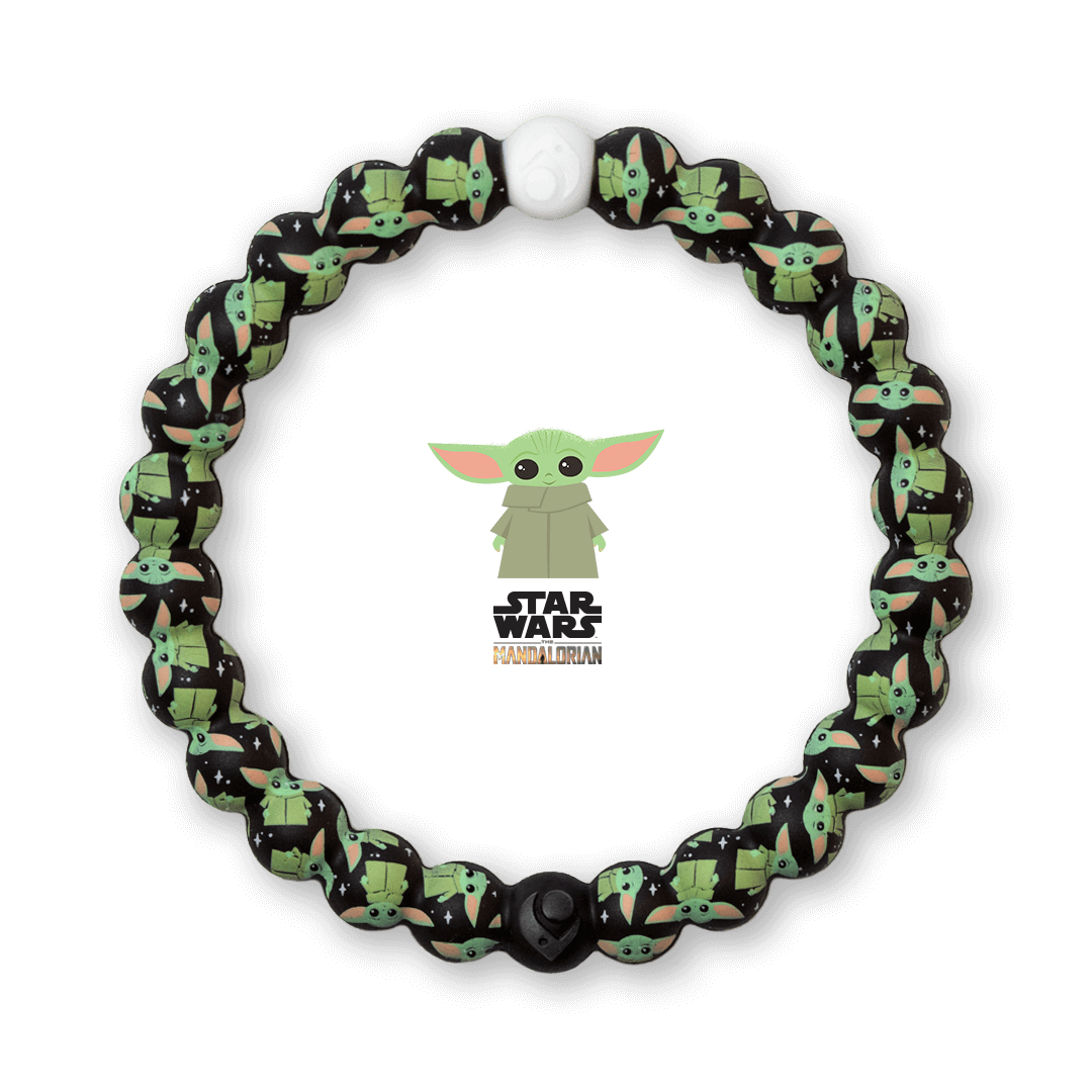 Silicone beaded bracelet with The Child pattern.