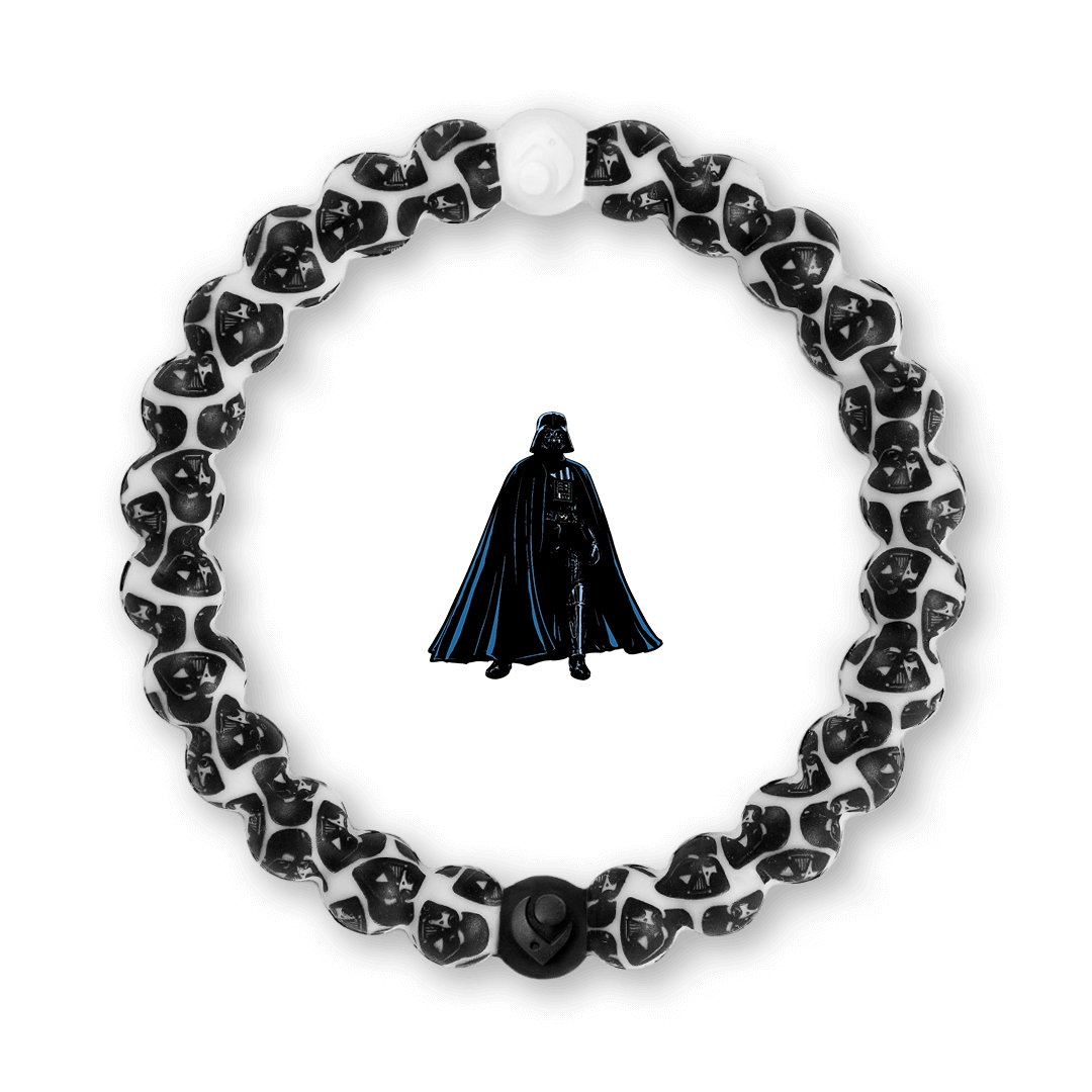 Silicone beaded bracelet with Darth Vader pattern.