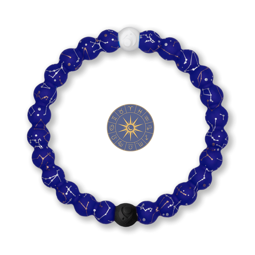 Silicone beaded bracelet with Constellation symbol pattern.