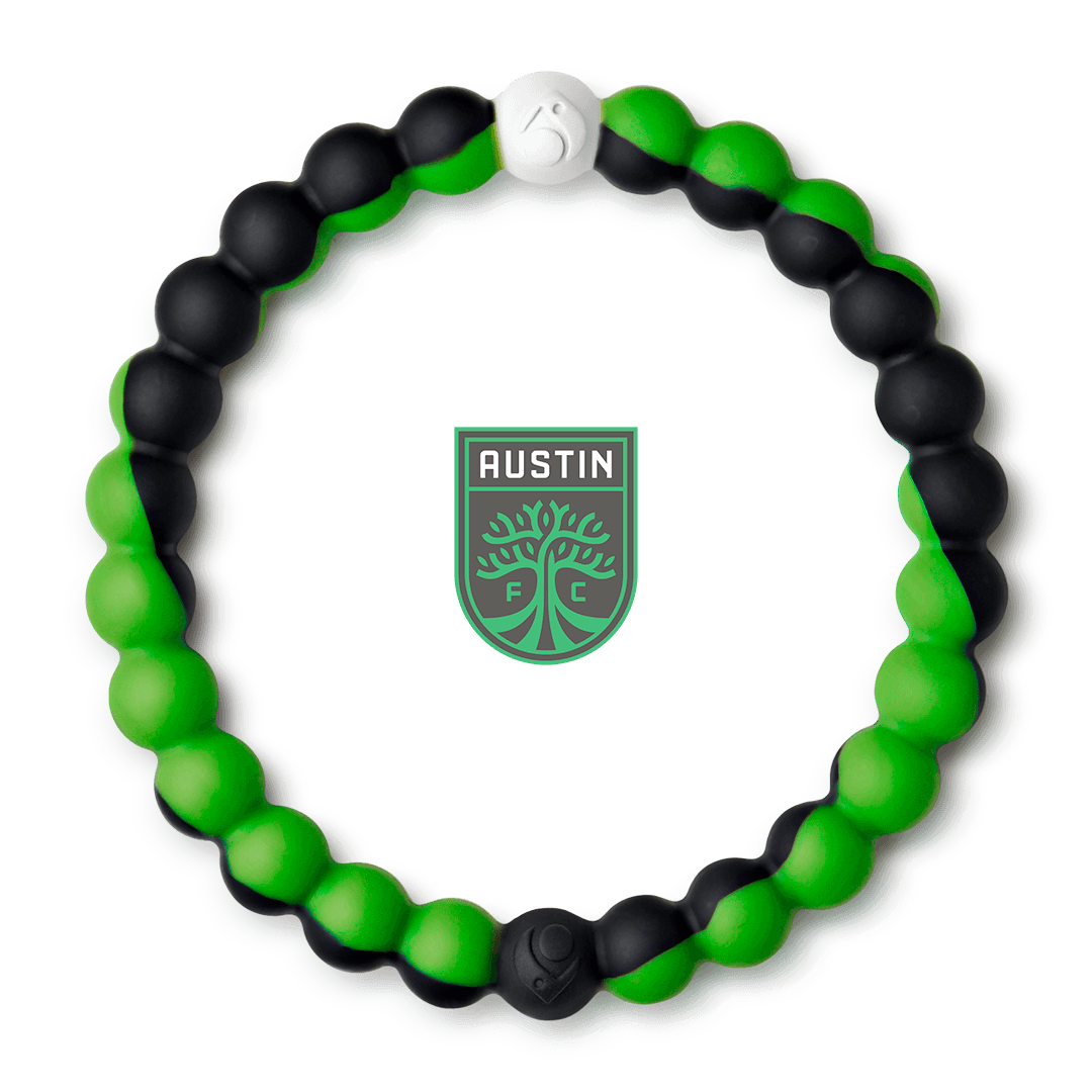 Black and green silicone beaded bracelet