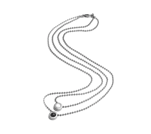 Double Ball Necklace - Slider Image 13