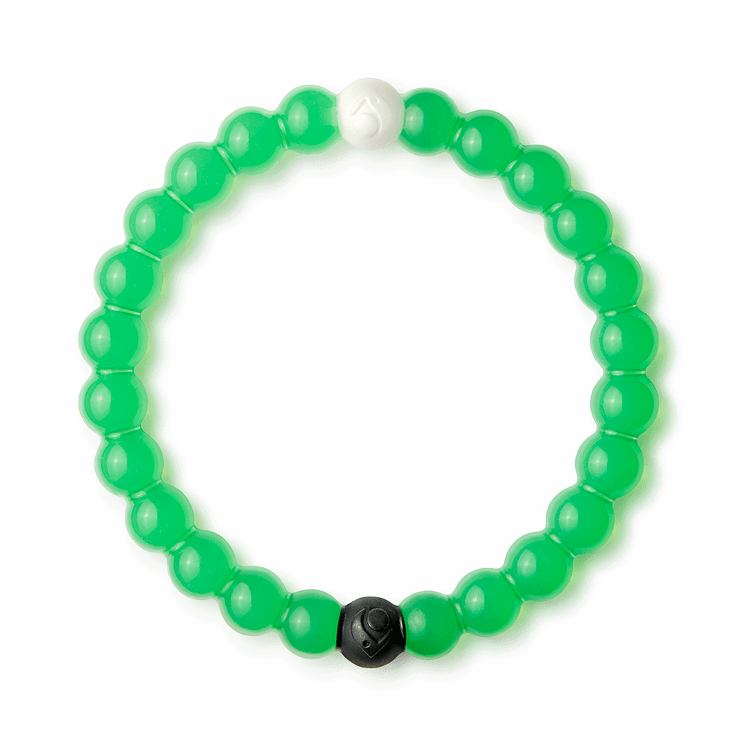 Green silicone beaded bracelet.