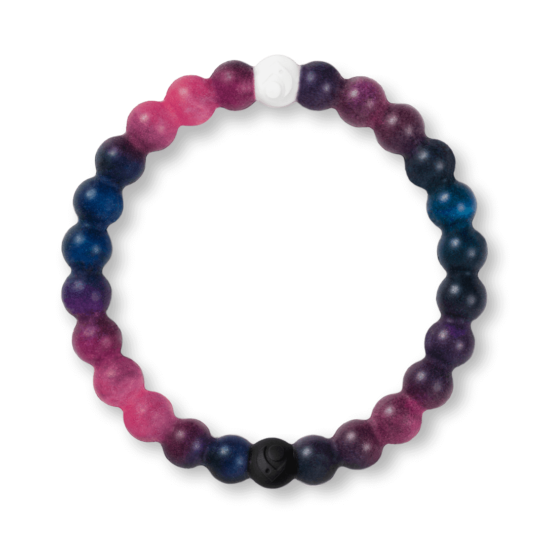 Galaxy patterned silicone beaded bracelet. B