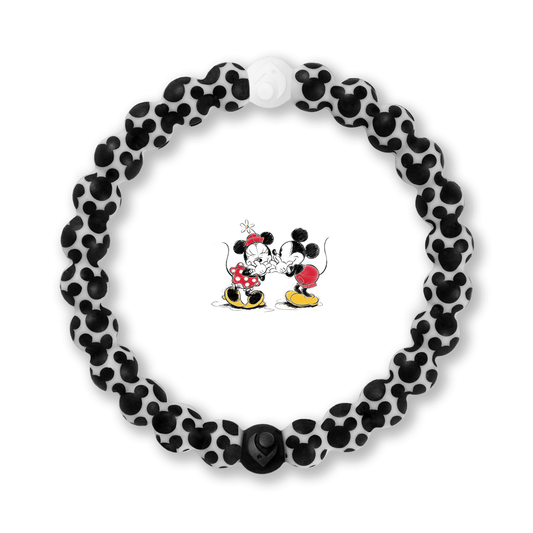 Silicone beaded bracelet with Mickey Mouse Icon