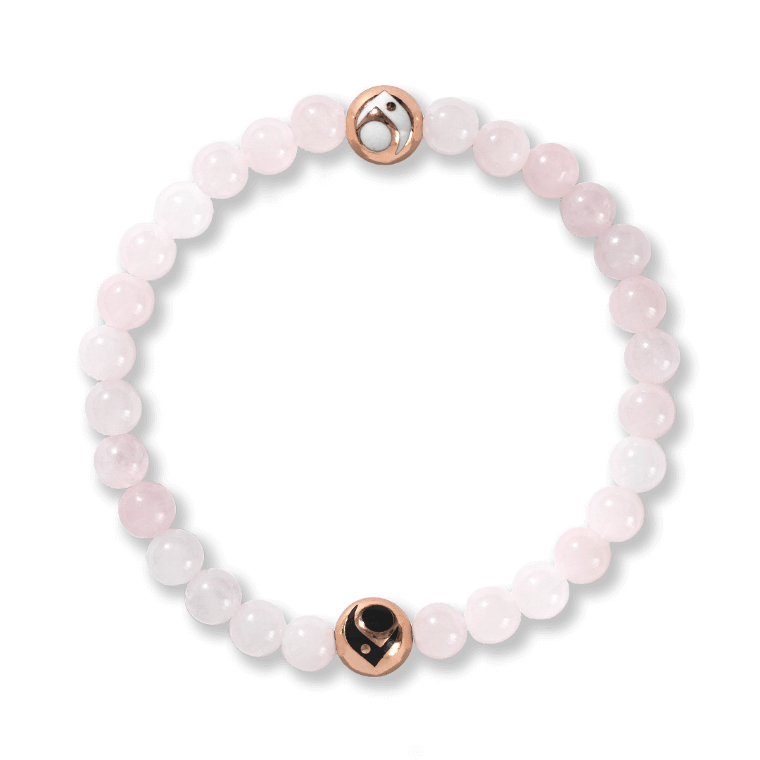 Light pink stone beaded bracelet.