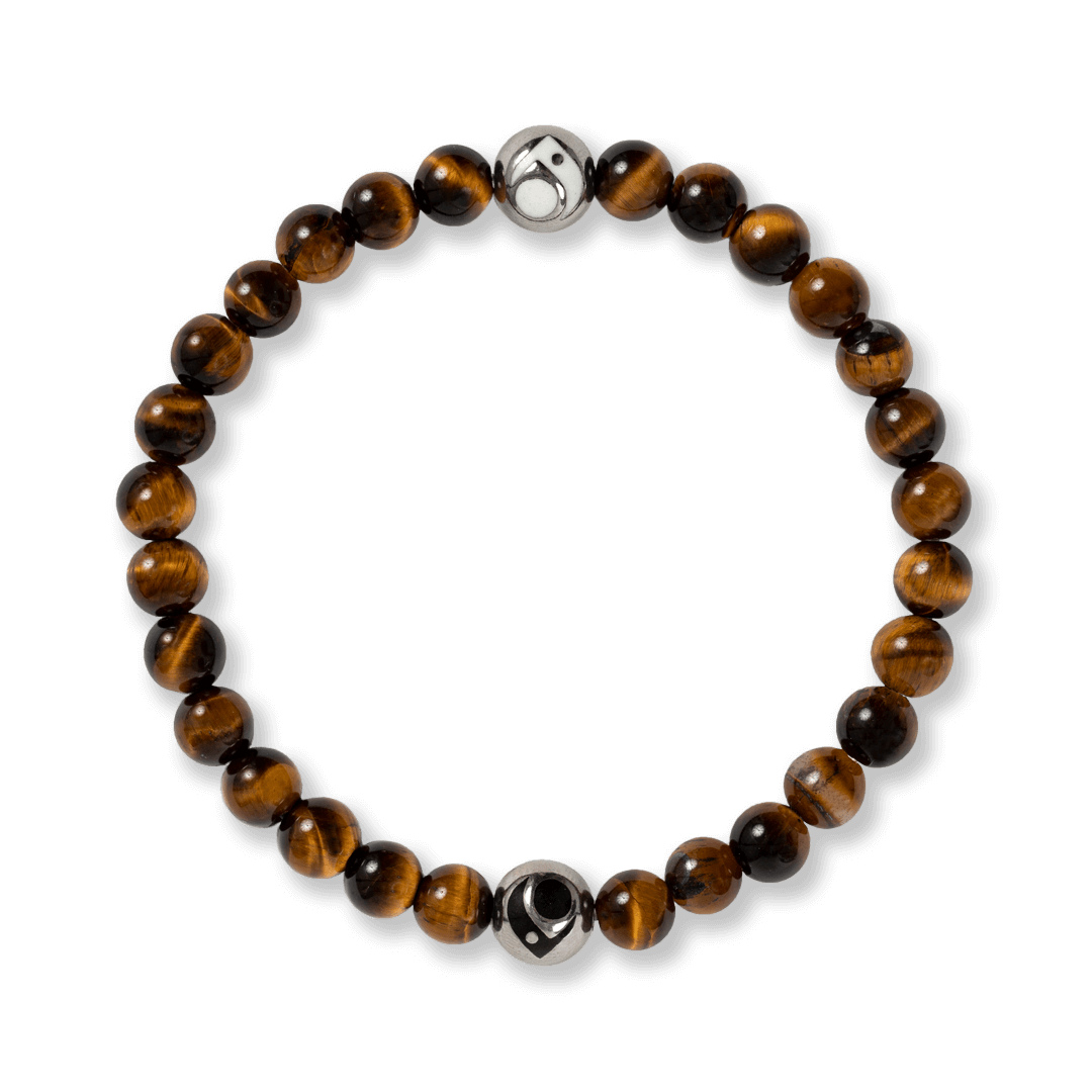 Brown stone beaded bracelet.