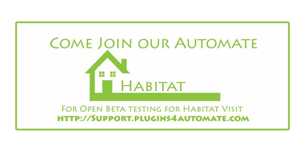 We need a few people to work and play in our Habitat