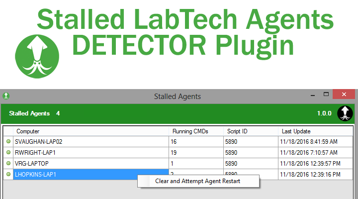 Stalled Agents Plugin Now Checks ScreenConnect Server Agents