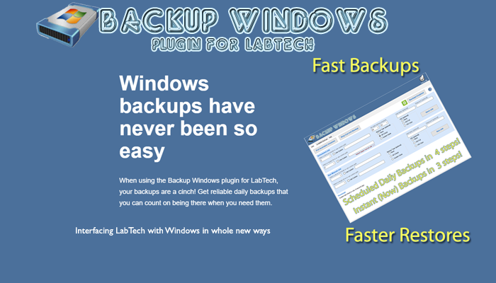 Plugin of the month - Backup Windows