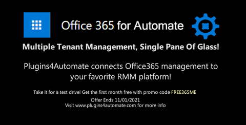 Get 1 Month Free Office365 For Automate Subscription