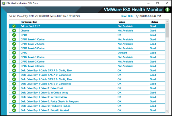 VMWare ESX Health Monitor for LabTech CIM Data