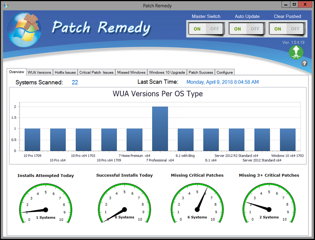 Main Patch Remedy View