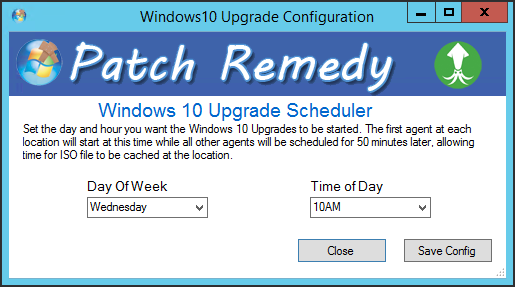Windows 10 upgrade scheduler
